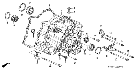 S843A1200B honda online store 2000 accord at transmission housing (v6) parts honda accord transmission diagram at gsmx.co