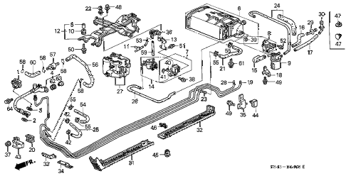 2001 accord EXL(LEATHER) 4 DOOR 4AT FUEL PIPE (1) diagram