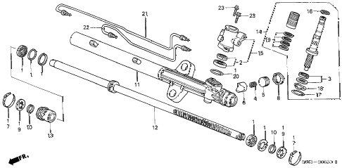 2000 accord SE-UL 4 DOOR 4AT P.S. GEAR BOX COMPONENTS (L4) diagram
