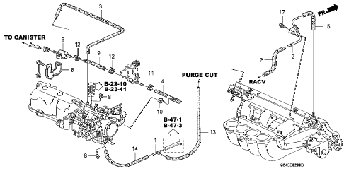 1998 accord EXL(LEATHER) 4 DOOR 4AT INSTALL PIPE - TUBING (1) diagram