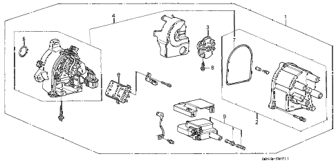 1998 accord DX 4 DOOR 5MT DISTRIBUTOR (TEC) diagram
