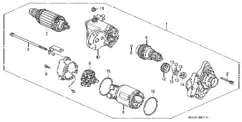 2001 accord EXL-UL(LEATHER) 4 DOOR 5MT STARTER MOTOR (DENSO) (L4) diagram