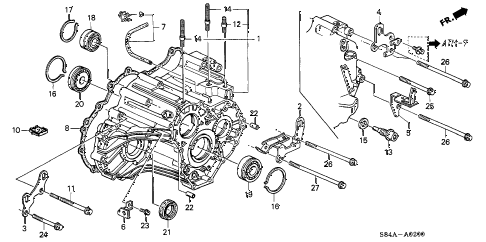 2002 accord VP 4 DOOR 4AT AT TRANSMISSION HOUSING diagram