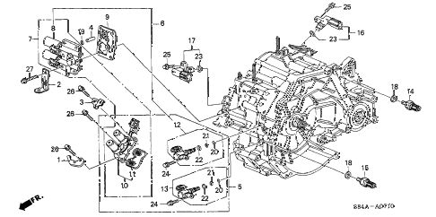 2002 accord LX 4 DOOR 4AT AT SENSOR - SOLENOID diagram