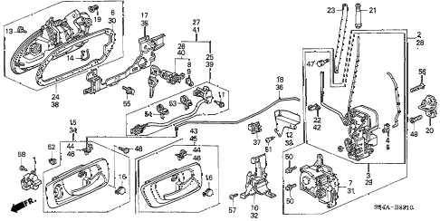 2002 accord VP(SIDE SRS) 4 DOOR 4AT FRONT DOOR LOCKS diagram