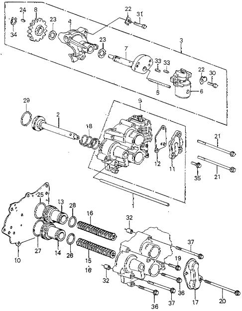 1981 civic **(1500) 3 DOOR HMT HMT SERVO BODY - GOVERNOR diagram