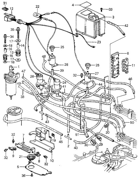 1981 civic **(1300) 3 DOOR HMT CONTROL BOX (2) diagram