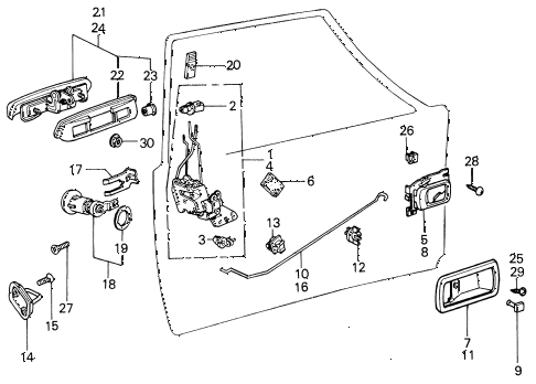 1981 civic ** 5 DOOR HMT DOOR LOCK (2) diagram