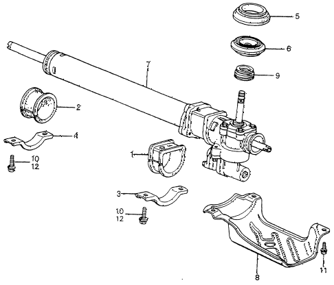 1983 accord LX 3 DOOR HMT P.S. GEAR BOX (2) diagram