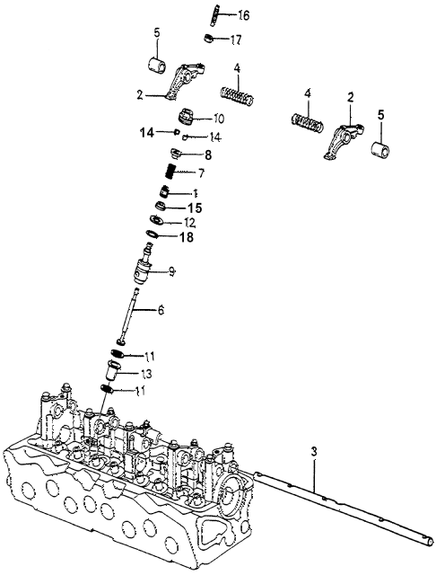 1983 accord LX 3 DOOR 5MT AUXILIARY VALVE diagram