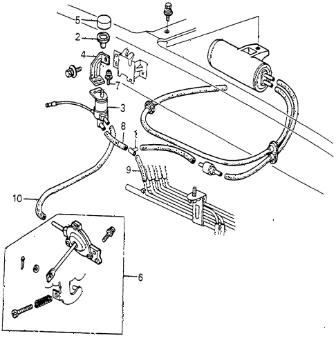 1983 accord SE 4 DOOR HMT A/C SOLENOID VALVE - TUBING diagram