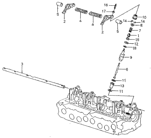 1982 civic **(1500) 4 DOOR HMT AUXILIARY VALVE diagram