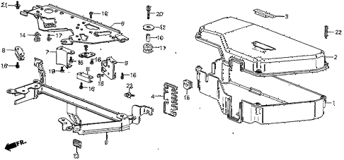 1986 prelude SI 2 DOOR 5MT CONTROL BOX COVER (SI) diagram
