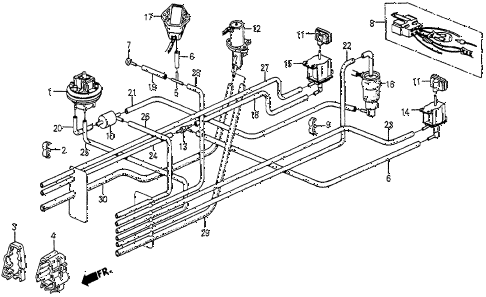 1985 prelude SI 2 DOOR 5MT TUBING (SI) diagram
