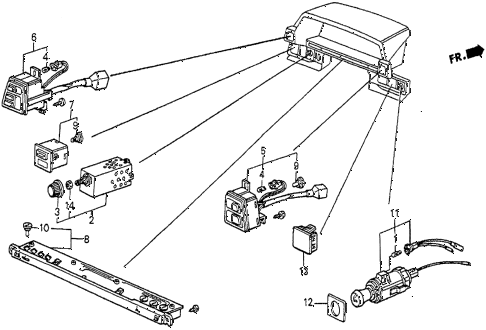 1986 prelude DX 2 DOOR 5MT SWITCH diagram