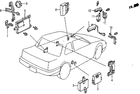 1986 prelude SI 2 DOOR 5MT CONTROL UNIT (SI) diagram