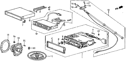 1986 prelude DX 2 DOOR 5MT RADIO diagram