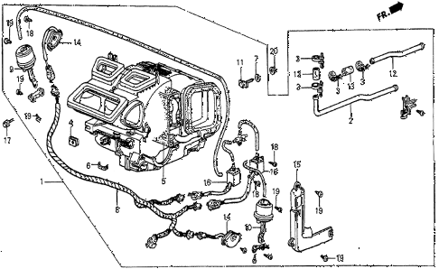 1985 prelude SI 2 DOOR 5MT HEATER UNIT diagram