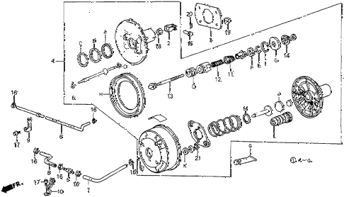 1987 prelude DX 2 DOOR 5MT VACUUM BOOSTER (DX) diagram