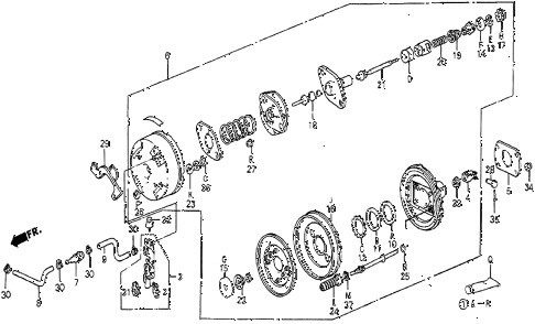 1986 prelude SI 2 DOOR 5MT VACUUM BOOSTER (SI) diagram