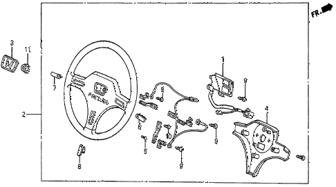 1985 prelude SI 2 DOOR 5MT STEERING WHEEL (SI) diagram