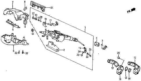1987 prelude SI 2 DOOR 5MT STEERING COLUMN (2) diagram