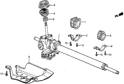 1985 prelude SI 2 DOOR 5MT P.S. GEAR BOX diagram