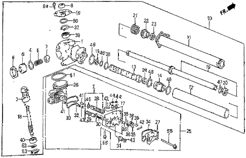 1985 prelude DX 2 DOOR 5MT P.S. GEAR BOX COMPONENTS diagram