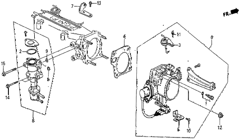 1987 prelude SI 2 DOOR 5MT THROTTLE BODY (SI) diagram