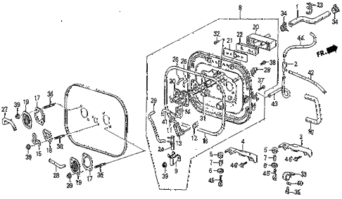 1985 prelude DX 2 DOOR 5MT AIR CLEANER BASE (DX) diagram