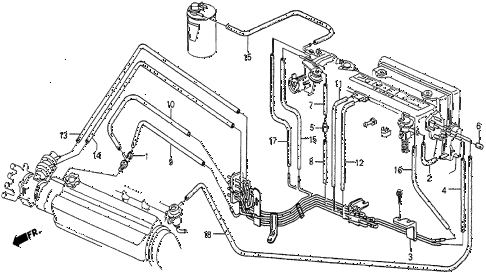 1985 prelude SI 2 DOOR 5MT INSTALL PIPE (2) diagram