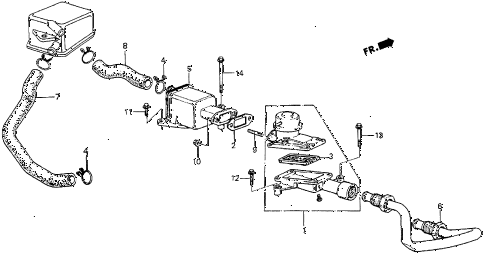 1983 prelude DX 2 DOOR 5MT AIR SUCTION VALVE (DX) diagram