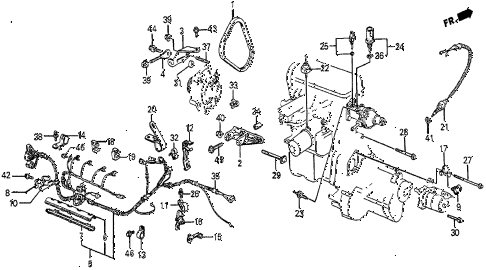 1987 prelude SI 2 DOOR 5MT ALTERNATOR BRACKET (SI) diagram