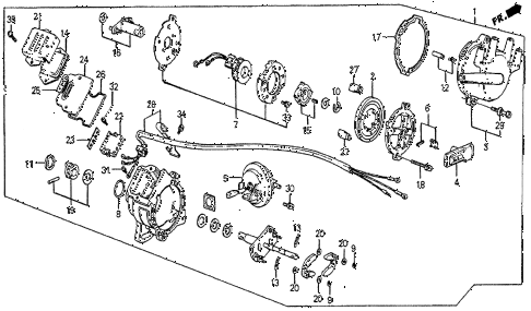 1983 prelude DX 2 DOOR 5MT DISTRIBUTOR (1) (TEC) diagram
