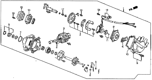 1986 prelude DX 2 DOOR 5MT DISTRIBUTOR (2) (TEC) diagram