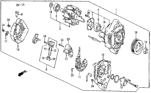 1987 prelude SI 2 DOOR 5MT ALTERNATOR (SI) diagram