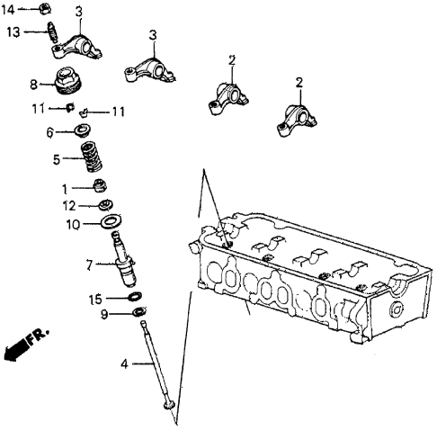 1983 prelude DX 2 DOOR 5MT AUXILIARY VALVE diagram