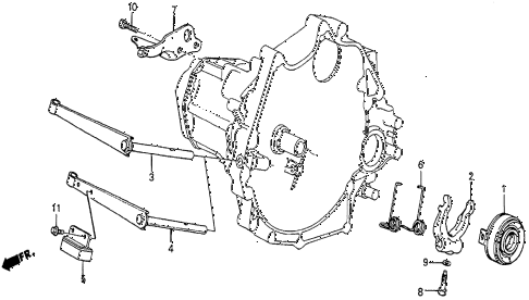1987 prelude SI 2 DOOR 5MT MT CLUTCH RELEASE diagram