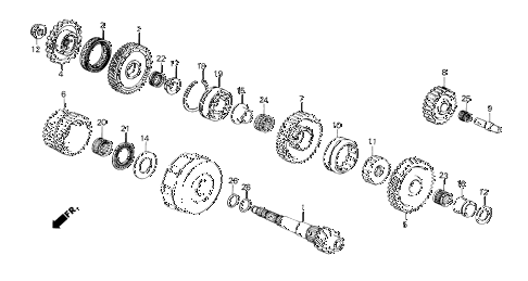 1985 crx DX 2 DOOR 3AT 3AT COUNTERSHAFT diagram