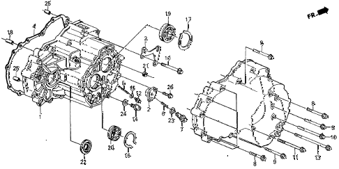 1987 crx DX 2 DOOR 4AT 4AT TRANSMISSION diagram
