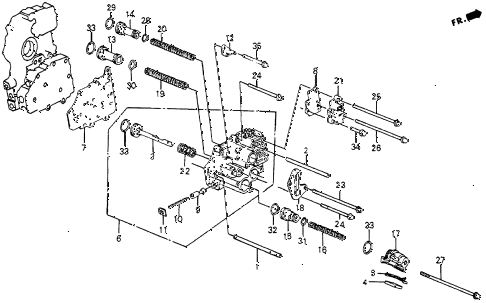 1986 crx DX 2 DOOR 4AT 4AT SERVO BODY diagram
