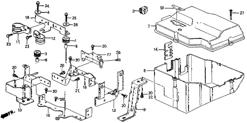 1985 crx DX 2 DOOR 3AT NO. 2 COVER (1.5 DX) diagram