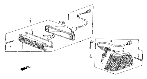 1987 crx SI 2 DOOR 5MT FRONT COMBINATION LIGHT diagram