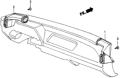 1986 crx DX 2 DOOR 4AT HEATER DUCT diagram