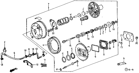 1984 crx DX 2 DOOR 5MT VACUUM BOOSTER diagram