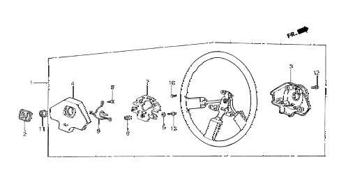 1985 crx HF 2 DOOR 5MT STEERING WHEEL (1) diagram