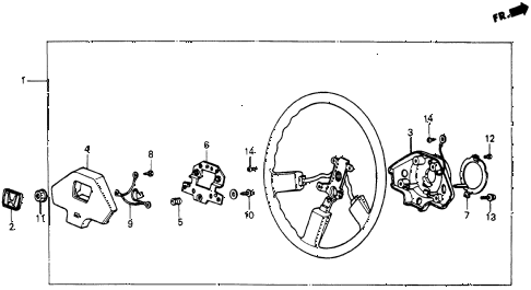 1985 crx HF 2 DOOR 5MT STEERING WHEEL (2) diagram