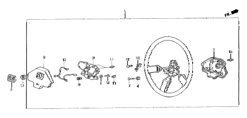 1987 crx DX 2 DOOR 5MT STEERING WHEEL (3) diagram