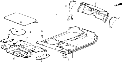 1985 crx DX 2 DOOR 5MT FLOOR MAT diagram