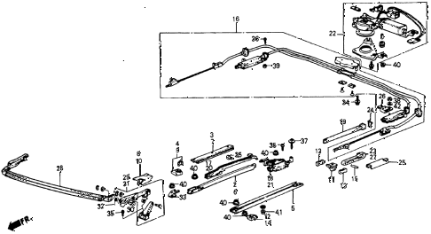 1987 crx SI 2 DOOR 5MT SLIDING ROOF (2) diagram